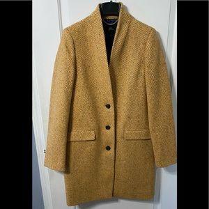 J. Crew Oversize Topcoat in English Herringbone Wool coat 8 Tall